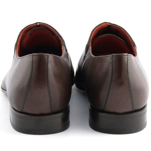 Exclusif Paris Nabab Cuir + Nubuck Noir, Chaussures de ville homme Cuir + Nubuck Noir Taille 44