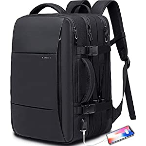 35L Travel Backpack for Men,Flight Approved Carry On Backpack for International Travel Bag, Water Resistant Durable 17…