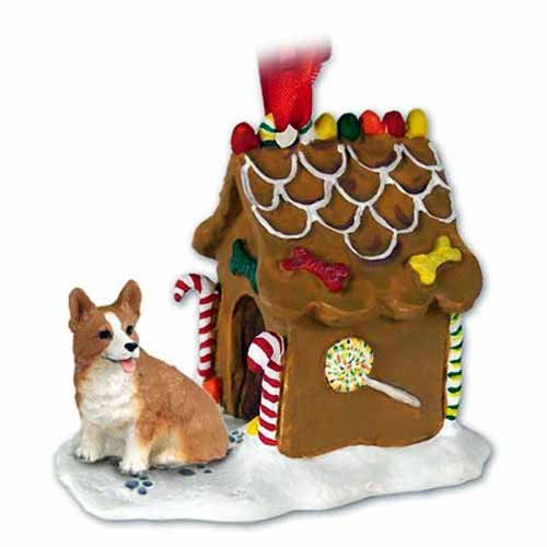 Conversation Concepts Welsh Corgi Gingerbread House Ornament - Pembroke
