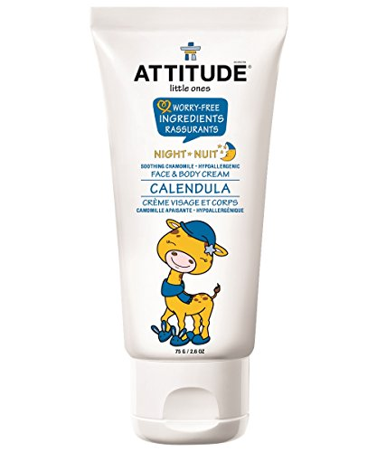 Chamomile Face (Attitude Calendula Face and Body Cream - Night, Soothing Chamomile, 2.6 Ounce)
