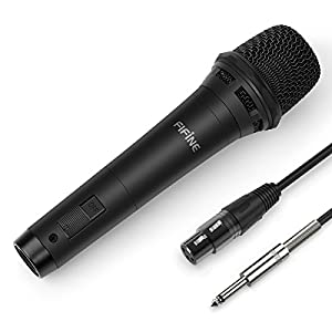 """Fifine Dynamic Vocal Microphone Cardioid Handheld Microphone with On/Off Switch for Karaoke, Live Vocal, Speech etc. Includes 19ft XLR to 1/4"""" Cable(K8) from FIFINE TECHNOLOGY"""