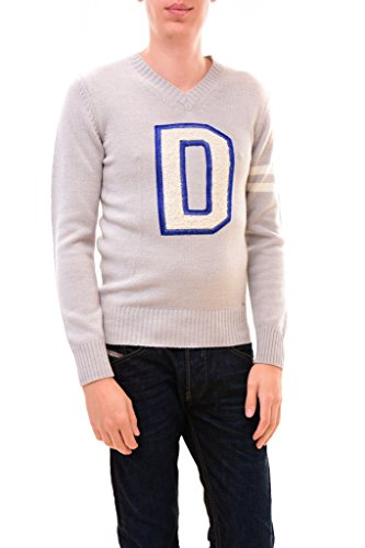 DIESEL Men's D Finferlo Logo V-Neck Sweater XL Grey by Diesel