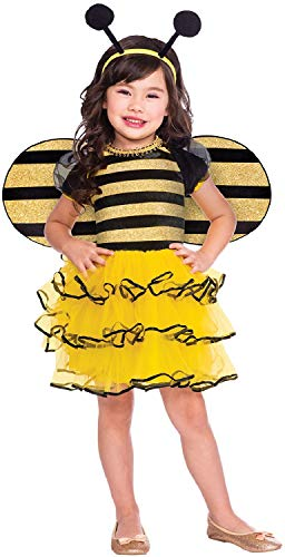 Girls Toddler Little Honey Bee Animal Insect Mini Beast World Book Day Week Carnival Fancy Dress Costume Outfit (2-3 years)]()