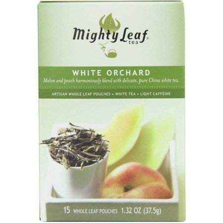 Mighty Leaf Tea White Orchard Tea Pouches - 6 per case.