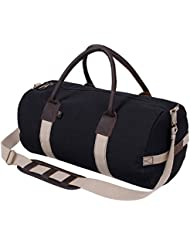 Rothco 19 Canvas & Leather Gym Bag, Sports Duffle Bag w/Shoulder Strap