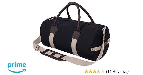 ed7f3d8114a1 Amazon.com  Rothco 19   Canvas   Leather Gym Bag