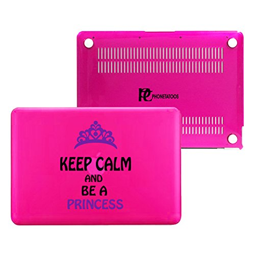 PhoneTatoos -Keep Calm And Be A Princess / Transparent Plastic Hard Case Cover for Macbook Pro 13'' (Model: A1278) by EMP