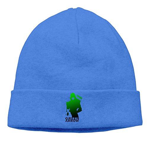 DETO Men's&Women's Green Arrow Patch Beanie B-boyRoyalBlue Hats