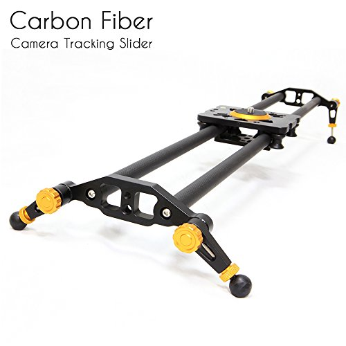 Selens 31'' 80cm Carbon Fiber Dslr Camera Slider Rail Track Dolly Video Stabilization (Gold) by Selens