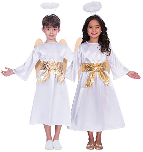 Childrens Girls Boys Angel Gabriel Christmas Xmas Festive Nativity Fancy Dress Costume Outfit 3-12 Years (11-12 Years)]()