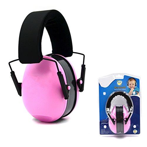 Muffs Kinder Ear Gehörschutz - Verstellbare Ohrenschützer Padded Baby-Ohr-Schutz-Noise Reduction Gehörschützer für Kinder, Säuglinge, Klein Erwachsene, Rosen-Rot