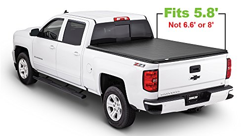 Cover Truck Tonneau Fold (Tonno Pro HF-159 Black Hard Fold Truck Bed Tonneau Cover 2014-2018 Chevrolet Silverado/GMC Sierra 1500, 2015-2018 Silverado 2500, 3500 / GMC Sierra 2500 HD, 3500 | Fits 5.8' Bed)