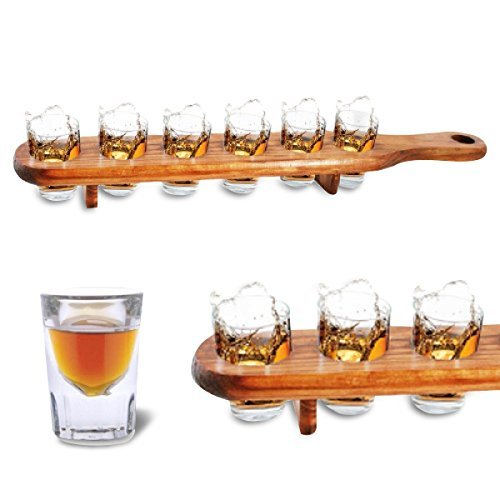 Tray with 6 shooters glasses TotalCadeau DMCR31