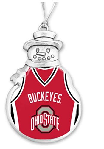 - FTH 60629 Ohio State Buckeyes Basketball Jersey Snowman Christmas Ornament