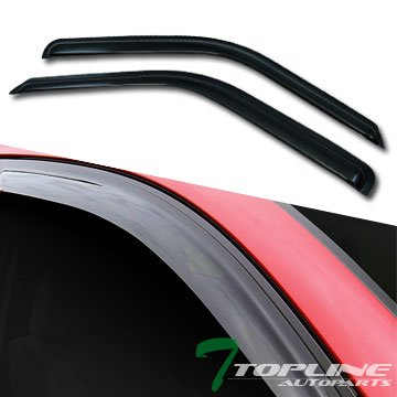Topline Autopart Smoke Window Visors Deflector Vent Shade Guard 2 Pieces For 88-00 Chevy/GMC C10 C/K Truck SUV