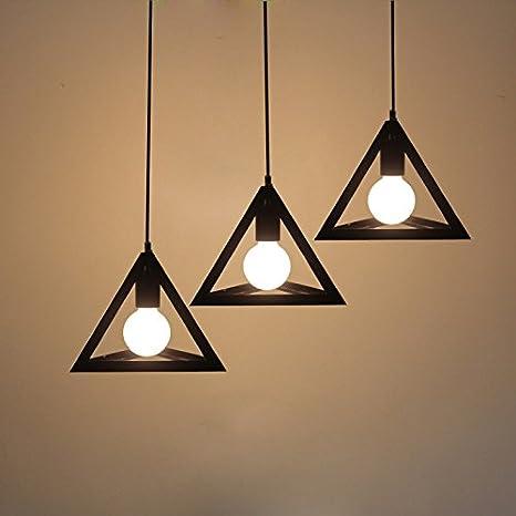 Sotoboo - Lámpara de techo colgante de triángulo geométrico, estilo vintage, para sala de estar, comedor, dormitorio, oficina
