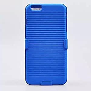 ZL 2in1 Fall-proof Hard Case Cover with Stand for iPhone 6(Assorted Colors) , Black