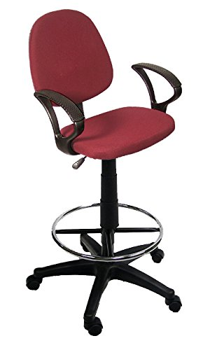 Burgundy Drafting Chair Classroom Drafting Chair and Arm Rest