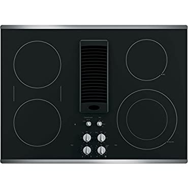 Quot Ge Profile 30 Quot Downdraft Electric Cooktop Glass Top With
