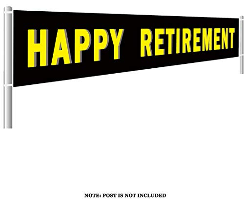 Colormoon Large Happy Retirement Banner, Retirement Party Supplies Decorations, Happy Retirement Sign Gift, Outdoor Indoor (9.8 x 1.5 feet)]()