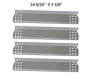 Barbacoa energía 97371 (4 unidades) placas de calor de acero inoxidable de repuesto para Select Grill Master y modelos de parrilla de Gas Uberhaus: ...