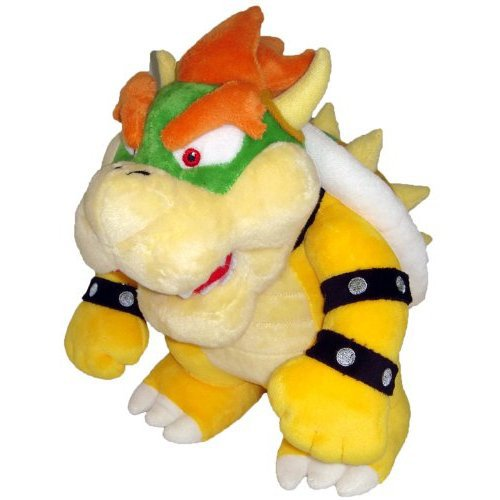 Nintendo Official Super Mario Bowser Plush, 10