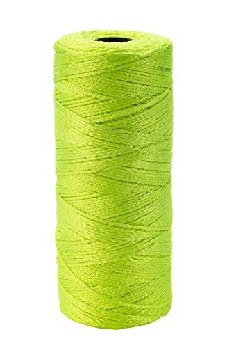 Mutual Industries 14661-138-1090 Nylon Mason Twine, 1 lb. Twisted, 18 x 1090', Glo Yellow (Pack of 4)