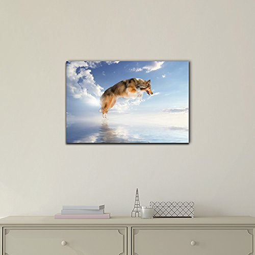 Funny Flying Animals A Dog Flying Above The Water Nursery Wall Kids