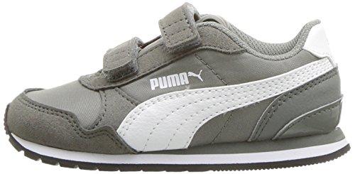 PUMA Baby ST Runner NL Velcro Kids Sneaker, Rock Ridge White, 7 M US Toddler by PUMA (Image #5)