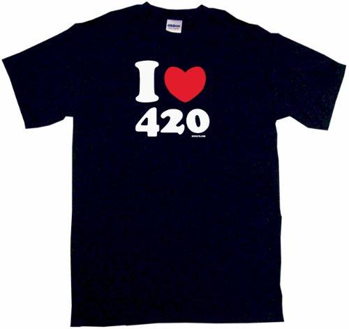 I Heart Love 420 Men's Tee Shirt 2XL-Black