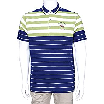 Cavana Multi Color Cotton Round Neck Polo For Men