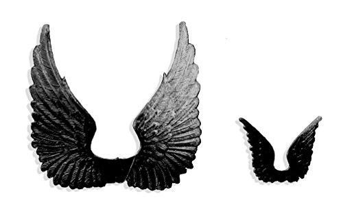Swan Wing (Kunze 8-Piece Dresden Swan Wings, Black)