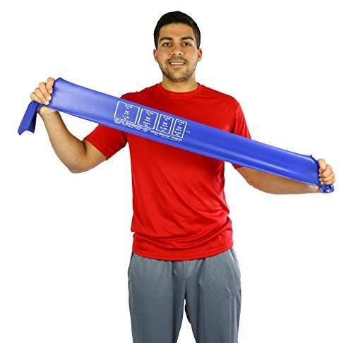 CanDo 10-5924 AccuForce Exercise Band, 50 yd Roll, Blue-Heavy by Cando (Image #2)