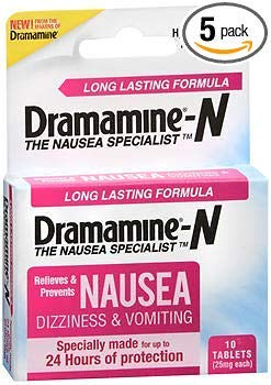Dramamine-N Tablets Long Lasting Formula - 10 ct, Pack of 5