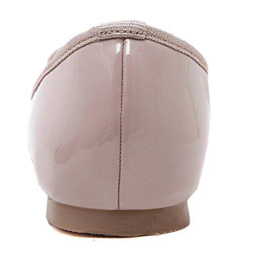 Pale Grey con fiocchetti donna punta arrotondata da donna da DQQ Pinkish Scarpe IAPzwxSq