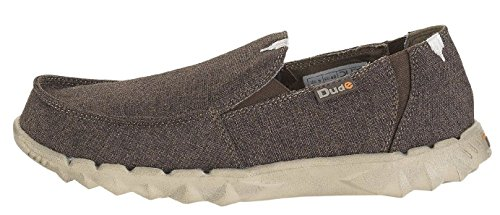 Hey Dude Farty Linen Chocolate De Lona Slipons Zapatos