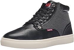Levis Men's Cooper Fashion Sneaker, Black, 8 M US