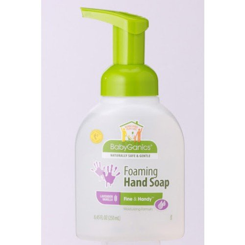 BabyGanics Fine & Handy Foaming Hand Soap, Lavender Vanilla, 8.45-Fluid Ounce Bottles (Pack of 2), Packaging May Vary