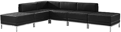 Flash Furniture HERCULES Imagination Series Black LeatherSoft Sectional Configuration