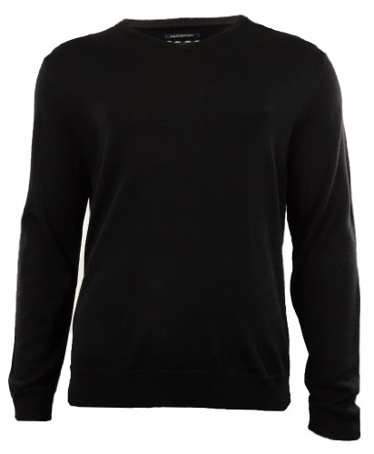 Club Room Mens Wool Blend Ribbed Trim Pullover Sweater Black M