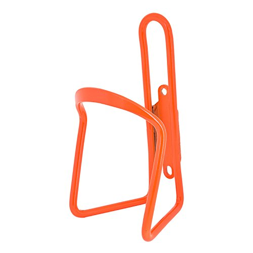 Sunlite Alloy Bicycle Water Bottle Cage, Neon Orange (Water Bottle Cage)