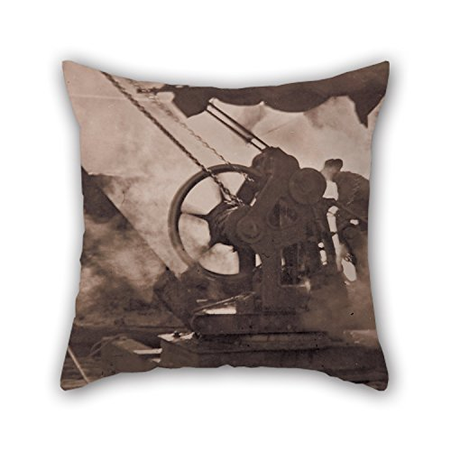 20 X 20 Inches / 50 By 50 Cm Oil Painting Tom H. Stoward - The Steam Winch Pillowcase Each Side Ornament And Gift To Car Seat Dining Room Chair Bf Teens Deck Chair (Gusseted Pillow Boudoir)