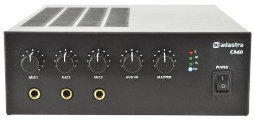 AMP11 - CA-SERIES CA60 60W COMPACT 100V / 8 OHMS LINE MIXER-AMPLIFIER 2U HOUSING MICROPHONE/LINE INPUT