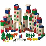 : Haba Little Amsterdam 166 Piece Wooden Building Block Set (Made in Germany)
