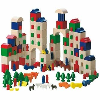 Haba Little Amsterdam 166 Piece Wooden Building Block Set (Made in Germany) by HABA