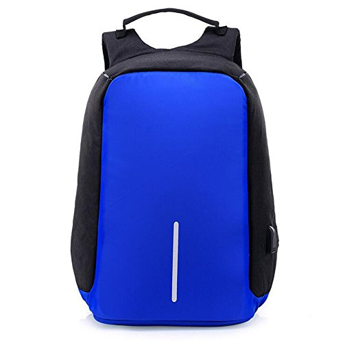 - UniquQ Multifunction USB Charging Men 15 inch Laptop Backpacks For Teenager Fashion Male Mochila Leisure Travel backpack anti Thief (deep blue)