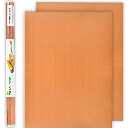 AltoFresh Extra Large Copper Grill Mats and Oven Liner Set of 2 - 17 x 24 inches - Non-Stick, No Mess Baking Mats Great for Oven, Gas, Charcoal, Electric Grill - FDA Approved, Reusable & Easy To Clean