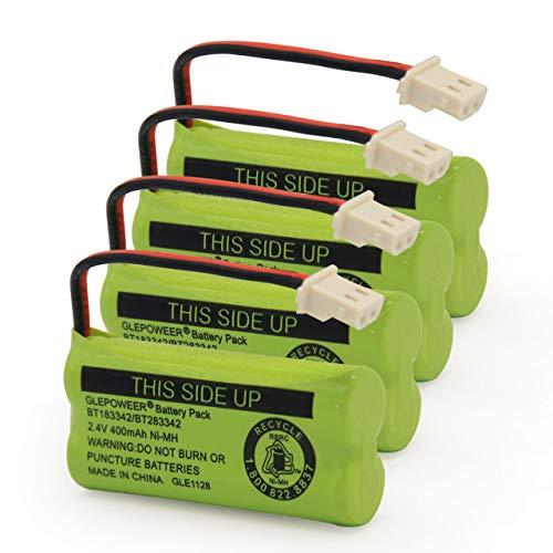 GLEPOWEER BT183342 BT283342 BT166342 BT266342 BT162342 BT262342 Battery Compatible with VTech CS6114 CS6419 CS6719 AT&T EL52300 CL80112 VTech CS6719-2 Cordless Handsets (4 Pack) -  US0442