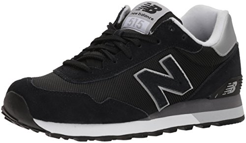 New Balance Men's 515v1 Sneaker, Black/Metallic Silver, 8 2E ()