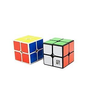 Ting-w Shengshou magic cube puzzle packed,Speed cube:2x2 Magic cube + 3X3 Magic cube Black +Megaminx cube+Mirror cube+ Pyraminx Cube black
